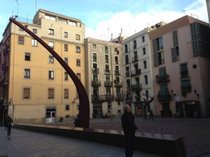 The Fossar de las Moreres, a memorial plaza in Barcelona, commemorates those who died defending the city from Spanish conquest in 1714, and has been the site of major pro-independence protests in recent months.
