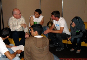 U.S. senior diplomat Robert Jackson and Casablanca high school research team at Rabat Environment Eair, 2010