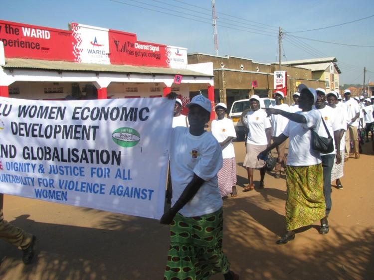 Gulu Women march
