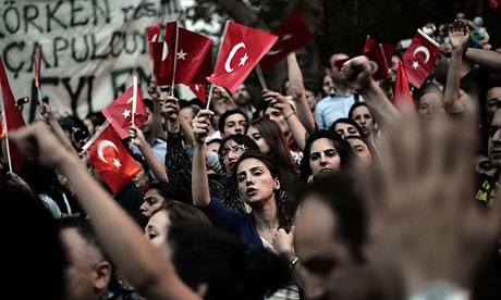 Turkish Demonstrators during the Gezi Park occupation