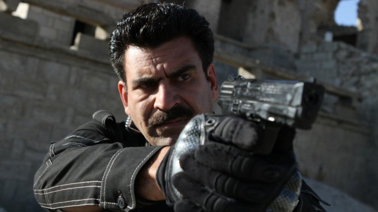 Kamran (actor Najebullah Sadiq) is the hardened but principled veteran police officer on Eagle Four, an Afghan TV show that its creators hope will have a positive effect on Afghans' attitudes toward the real police. Credit: Tolo TV/ Wakil Kohsar