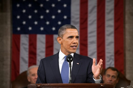 President Obama delivering the State of the Union address, Feb. 12, 2013. Credit: WhiteHouse.gov
